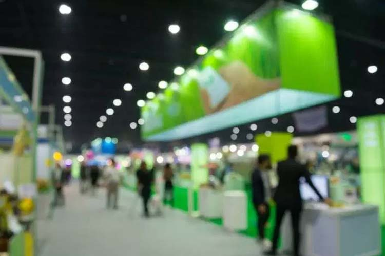 How do trade shows attract customers