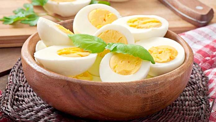 Boiled eggs are used for enriched